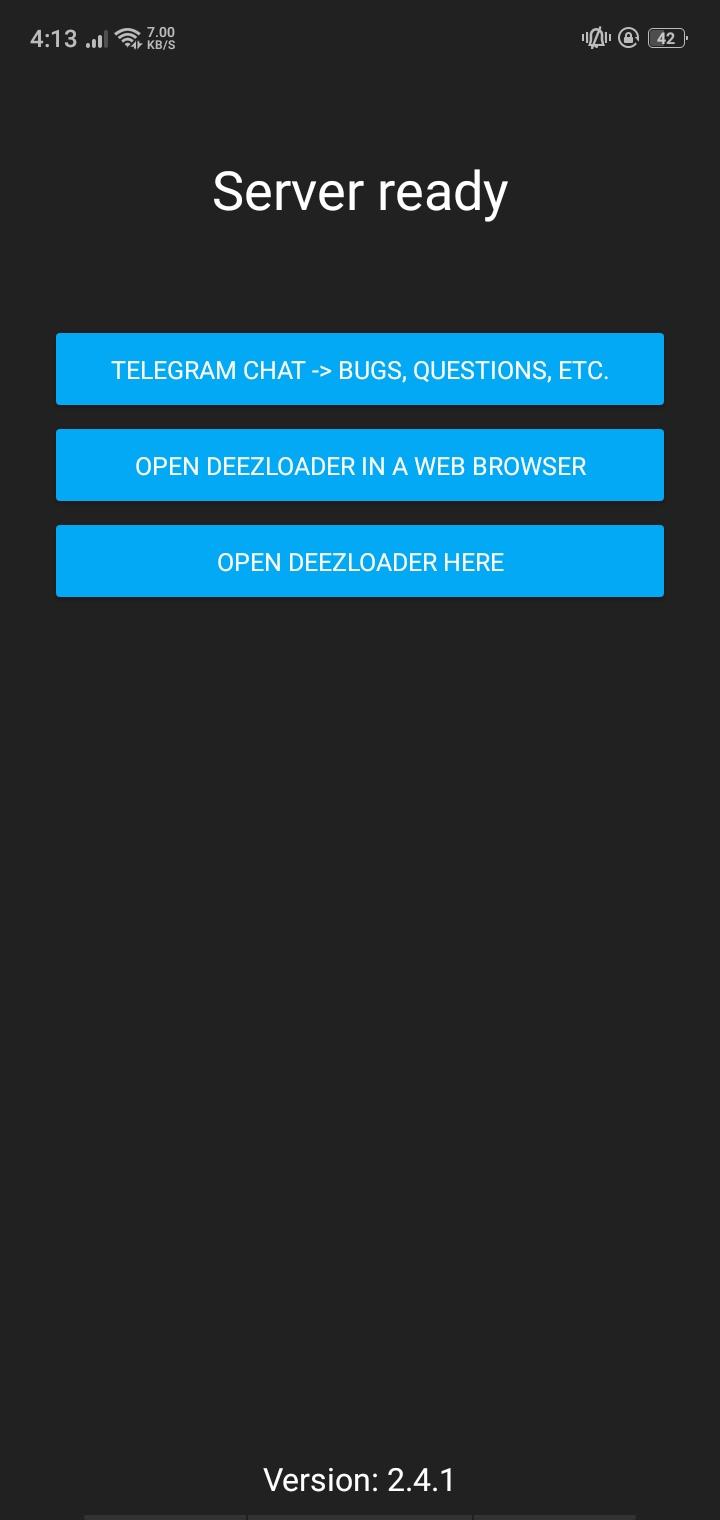 Open DeezLoader here